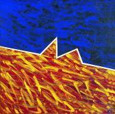 Esti angyal, 1997, a, v, 40x40 cm