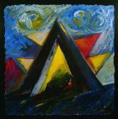 Nappal és éjszaka, 1998, a, m papír, 75x75 cm