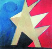 Angyal érkezett, 1998, a, m papír, 75x75 cm (Miki)