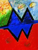 Ég és föld között, 1997 a, v, 250x150 cm