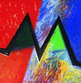 Kapcsolat II., 1997, a, m papír, 150x150 cm.