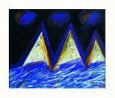 Víz felett, 1998, a, v, 50x60 cm