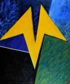 Sárgaruhás angyal, 1995, a, v, 120x101 cm