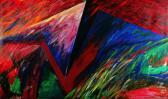Rét felett suhanó, 1996, a, v, 100x150 cm