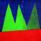 Kapcsolat IV., 1997, a, m papír, 150x150 cm.