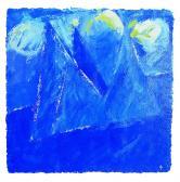Kék angyal, 1998, a, m papír, 75x75 cm