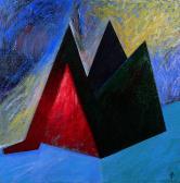 Hajnali angyal, 1998, a, m papír, 75x75 cm