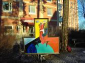 A Megváltó, 2000, a, fa, 150x150 cm (Miki)