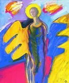 Védőangyal, 1998, a, v, 50x40 cm