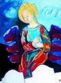 Őrangyal, 2001, a, fa, 80x60 cm (Miki)