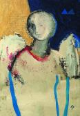 Őrangyal, 2001, a, m papír, 13x9 cm
