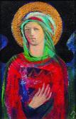 Őrangyal, 2002, a, m papír, 20x13 cm