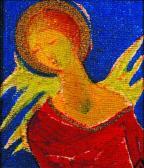 Reneszánsz angyal, 1997, a, v, 21x19 cm