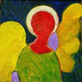 Őrangyal, 1998, a, m papír, 9,5x10 cm