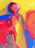 A látogató, 1996, a, v, 40x30 cm