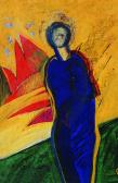 Pihenő angyal, 1998, a, m papír, 30x20 cm