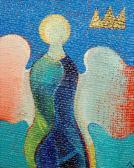 Őrangyal, 1999 a, v, 15x13 cm