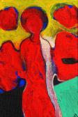 Őrangyal, 2000, a, farost, 18x13 cm