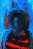 Magányos angyal, 2000, a, m papír, 13x20 cm