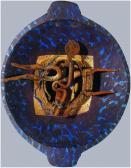 Angyalikon, 1997, a, fa, vas, 50x40 cm