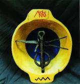 Angyal, 1998, a, fa, vas, 37x30 cm