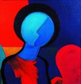 Ablak előtt az angyal, 2002, a, m papír, 39x38 cm