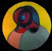 Kapcsolat (Angyal), 2003, a, m papír, átm 80 cm