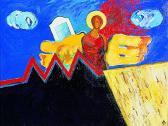 Védőangyal, 1998, a, v, 30x40 cm