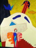 Szentendrei kálvária (Kálvária angyal), 2001, a, farost, 47x32 cm
