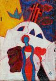 Kálváriaangyal, 2001, a, v, 17x12 cm