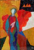 A városvédő angyal, 2001, a, v, 17x12 cm