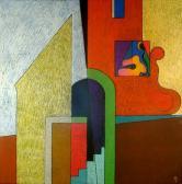 Az én Szentendrém, 2005, o, p, fa, 100x100 cm