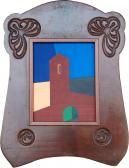Emlék, 2008, a, v, egyedi keret, 26x20,5 cm