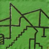 Emlék 2008, a, m papír, 75x75 cm