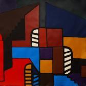 Emlék, 2008, a, m papír, 120x120 cm