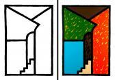 01-0675 Emlék (Diptychon), 2006, (2x) 100x70 cm