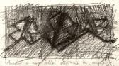 Amikor a nap feljön, 1993, c, papír, 10x22 cm
