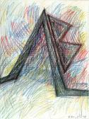 Angyal-pár, 1998, kréta, papír, 60x40 cm