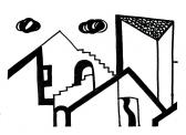 Város, 1999, filctoll, papír, 20x24 cm (Miki)
