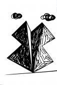 Angyal érkezett, 1999, filctoll, papír, 24x20 cm  (Miki)