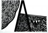 Halott angyal, 1999, filctoll, papír, 20x24 cm (Miki)