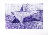 Angya-pár, 2001, golyóstoll, papír, 13x17 cm (Miki)