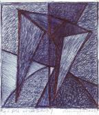 Ég és föld között, 2002, golyóstoll, papír, 13,5x12 cm