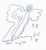 Cím nélkül, 2004, golyóstoll, papír, 10x10 cm