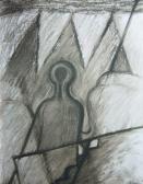 Arcuk egy-egy kis külváros (J. A.), 2005, vegy tech, papír, 25x20 cm (Mi