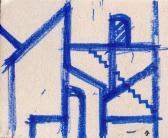 A ol, Vázlat, 2006, filctoll, karton, 20,5x24 cm