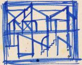 B ol, Vázlat, 2006, filctoll, papír, 20,5x24 cm