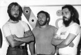 balról: AKNAY János, BEDE István, LIPTÁK Mihály, 1982,