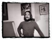 Műtermében, Szentendre, 1984,