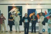 Városi Könyvtár (jobbról: KÉRI Mihály, AKNAY János; megnyitja: HANN Ferenc; SOMOGYI György, GUBIS Mihály), Szigetszentmiklós, 1991,